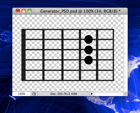 This Is The Guitars Neck And Each Dot Where You Press Template Has A Layer For Fret On String Appropriately Named